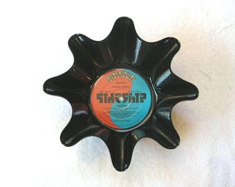 Jefferson Starship Record Bowl Made From Repurposed Vinyl Album