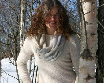 Infinity Scarf Knit Scarf Shawl Wrap Winter Scarf Pastel Scarf Knit Infinity Scarf Women Neck Scarf Latvia Shoulder Wrap Snow Field