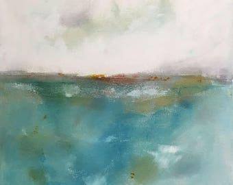 Abstract seascape original painting -Inverness 20 x 20