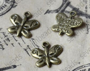 20 pcs Butterfly Charms Antique bronze Tone butterfly Charm,butterfly Charms Fingdings pendant,jewelry pendant finding