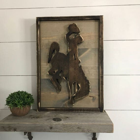 Rustic Wyoming Decor Wyoming Cowboy Sign Western Decor