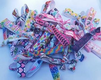 50 foe hair ties hairties Ouchless Bulk lot mixed prints