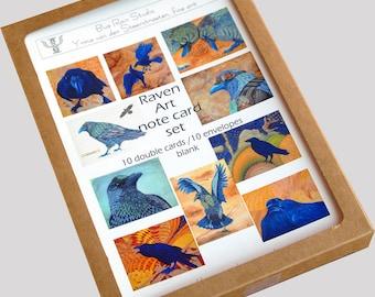 Raven Art Note Card Box Set