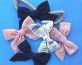 You choose color TINY Abby bows, Swiss dot, watercolor, headband or clip