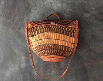 20% Off Sale Medium Straw African Tote Raffia Ethnic Bucket Sisal Market Basket Bag Handbag Boho Hippie
