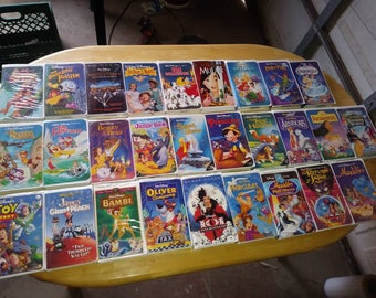 28 Kids Childrens Movies VHS Cassette Tapes Vintage Good Condition