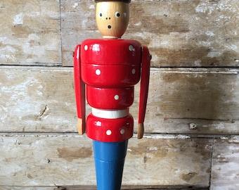 Vintage Denmark Wooden Toy Solider Mid Century Kay Bojesen Style