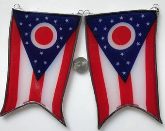 Any State Flag  or Country Flag Under Glass- real flag lacquered under glass- any state flag, or any country flag- 4 by 6 inches