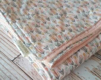 Baby Blanket - Minky Baby Blanket - Tribal Blanket - Boho Baby Blanket - Feather Nursery Decor - Girls Boho Blanket - Christmas Gift Baby