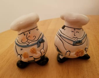 Vintage Pair of Chefs Salt and Pepper Shakers