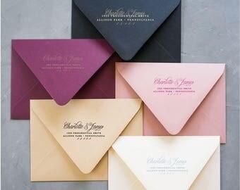 Calligraphy Return Address Stamp, Return Address Self Inking Stamp Address Self Ink, Return Address Stamp Self-Inking, Personalized Address