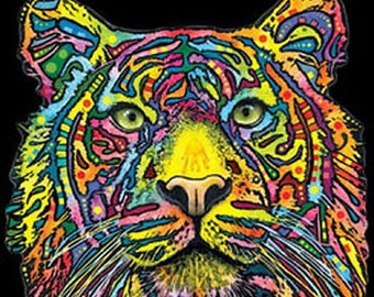 Colorful Tiger Tank Top Blacklight Neon Choose Size and Color 18488NBT4