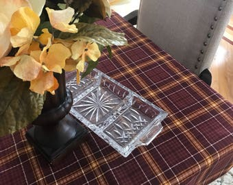 Easter Tablecloth | Fall Tablecloth | Table | Square | Decor | Overlay | Linens | Table Topper | Thanksgiving | Fall Table Topper