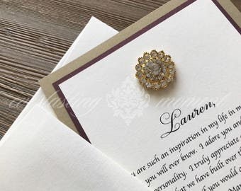 5 Cards - Will you be my Bridesmaid, Maid of Honor, Matron of Honor, Flower Girl Invitation, Sister-In-Law