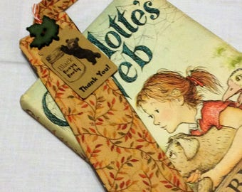 Quilted Bookmark Fall Leaves Reading