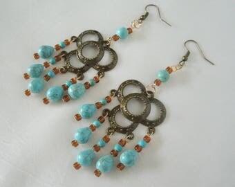 Turquoise Earrings boho jewelry hippie jewelry bohemian jewelry gypsy jewelry gypsy earrings hippie earrings boho earrings bohemian earrings