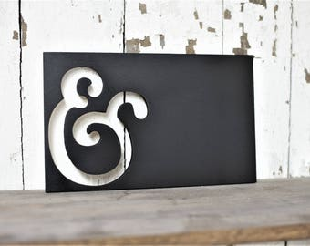 Ampersand Rectangle Wood Cut Out Sign gallery wall bedroom nursery boho play room kids decor