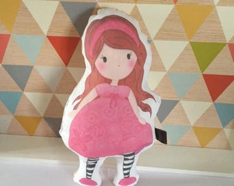 Illustrated cloth doll * Baby Poline *.