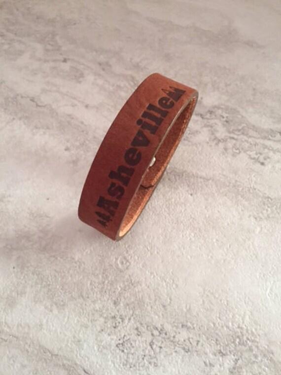 Handmade Asheville Leather Cuff Bracelet