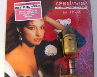 "ON SALE Gloria Estefan & Miami Sound Machine Vinyl Record Album LP 1980s Dance Pop Rhythm ""Let It Loose"" (1987 Cbs w/""Rhythm Is Gonna Get Yo"
