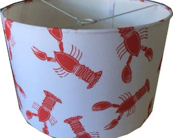 Nautical Lobster Print Lamp Shade - 40 cm