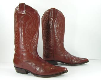 vintage cowboy boots womens 10 brown Guess leather western