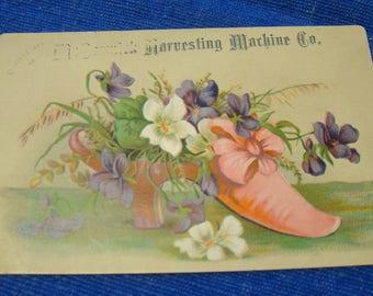 McCormick Harvesting Machine Co. Victorian Trade Card 1800s