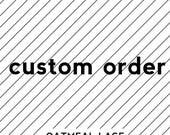 custom SHORT apron