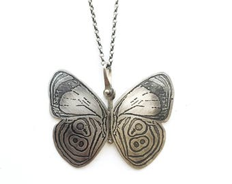 Hinged Sterling Silver Anna's 88 Butterfly Pendant