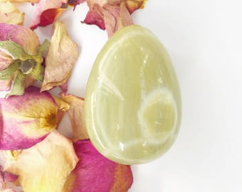 Yoni Egg -Medium Silver Leaf Jasper 3021