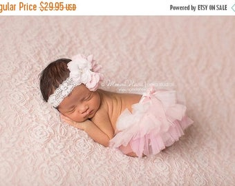 ON SALE Pink Tutu Bloomer and Headband, Pink Ombre Diaper Cover, Newborn Photography Prop, Baby Bloomers, Tutu Bloomer,  FREE Shipping