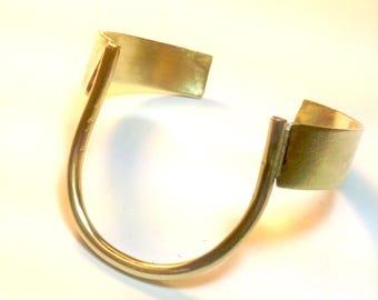 Handmade Brass Horseshoe Cuff Bracelet