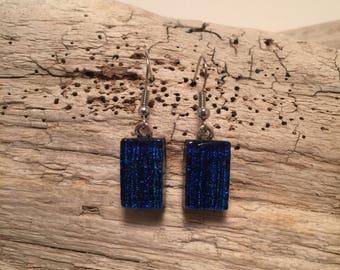 Jewelry, fused glass, dichroic glass, handmade glass earrings, dangle earrings, glass, handmade, dichroic glass earrings, earrings