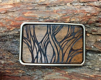 Tree Belt Buckle, Forest Buckle, Passion, Life, Anniversary Gift