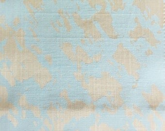 Custom Curtains Valance Roman Shade Shower Curtains in Light Aqua Abstract Pattern Fabric