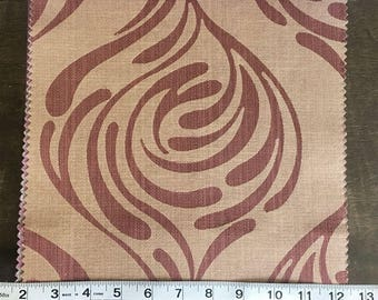 Custom Curtains Valance Roman Shade Shower Curtains in Rust Mid Century Abstract Pattern Fabric