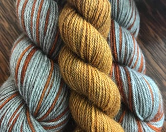 IMPERFECT Tiger Lily Peter Pan Pinstripes... Canon Hand Dyes Bruce Yak Self Striping Sock Yarn