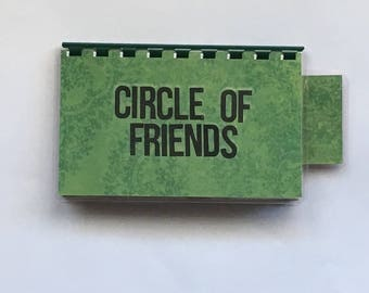 Handmade Green 'Circle of Friends' Blank Recipe book for Your Personal Recipes