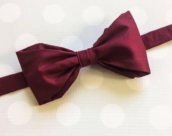 Wine Bow Tie - Merlot Bow Tie - Burgundy Bowtie - Boys Outfits - Bow Tie - Bow Tie - Wine Tie - Boys or Mens - Wedding Bow Tie - Kids Tie