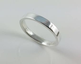 Sterling Silver Comfort Fit Band, Wedding Band, Mens Ring, Womens Ring