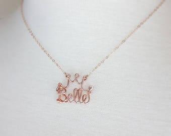 Disney Wedding Name Necklace With Crown, Princess Wedding Jewelry, Bridesmaid Necklaces, Disney Bride, Disney Accessories, Disney Honeymoon