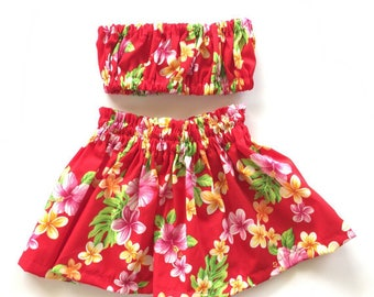 Baby/Toddler Hula Skirt Outfit Sizes 6m-2T