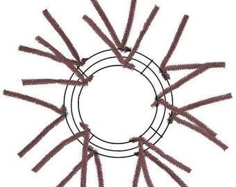 10% OFF SALE 10 Inch Chocolate Deco Mesh Wreath XX167840
