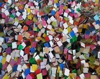 Mega Mix 500 Blueriverglass Mosaic Tiles  Mix Handcut Glass Tile