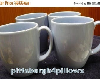 CHRISTMAS IN JULY 4 - Corelle - Light Blue Coffee Cups / Mugs - Read Below -  Some Wear - 4 x 3 - 12 Ozs. - Price Is For All