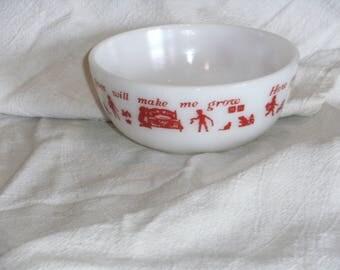 Vintage Fireking Childs Bowl