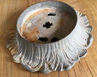 Vintage Brass Lamp Base or Bobeche - DIY Altered Art Supply -