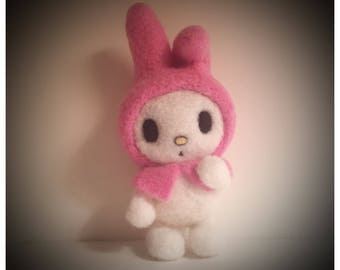 My Melody Felted Sculpture Figurine