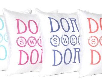 Dorm Pillow - Graduation Gift - Dorm Decor - Dorm Bedding - Throw Pillow Cover - College Bedding - Grad Gift - College Dorm Decoration