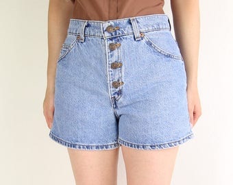 VITNAGE Denim Shorts Button Fly Levis Jean Short Blue